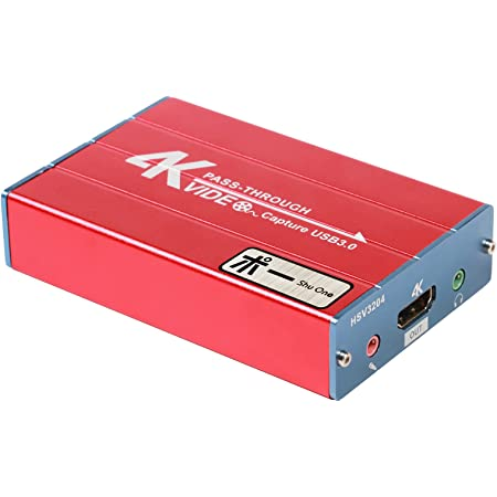ShuOneキャプチャボード、USB 3.0 HDMIゲームキャプチャデバイス、サポートHDビデオ 1080P HDMIループ出力、マイクオーディオミキシング、Windows 7 8 10 Linuxとの互換性、PS5 PS4 Xbox Wii U Linux YouTube OBS Twitchリアルタイムストリーミングおよび録音、HSV3204(HSV3212)