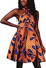 Women's Boho Flowy Party Dress Front Cross Deep V-Neck Swing Dress Wrap Floral Casual Work Party A-Line Dress S-XL