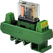 Electronics-Salon AC/DC 12V Slim DIN Rail Mount 10Amp SPDT Power Relay Interface Module, G2R-1 12V.