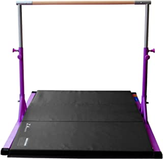 Z Athletic Elite Adjustable Bar with Gym Mat for In-Home Children's Gymnastics Multiple Colors/Sizes