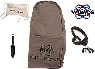 White's Metal Detector Backpack Bundle - 4 Items: 1 Metal Detector Backpack, 1starlite Headphones, 1 Treasure Apron, 1 Non-metallic Digger