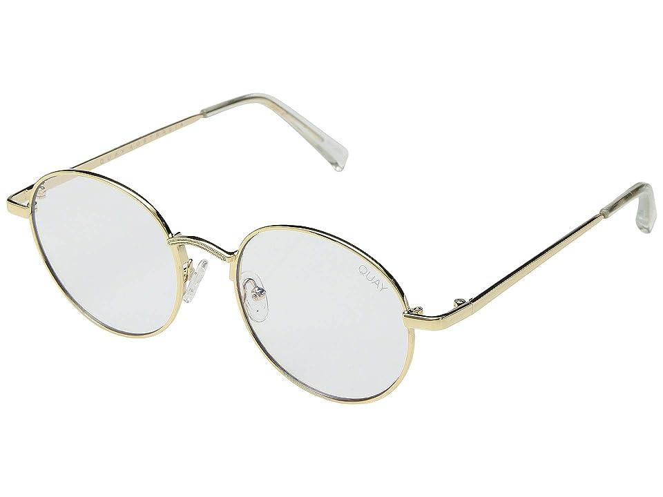 Retro Sunglasses | Vintage Glasses | New Vintage Eyeglasses QUAY AUSTRALIA I See You - Blue Light Glasses GoldClear Blue Light Fashion Sunglasses $60.00 AT vintagedancer.com