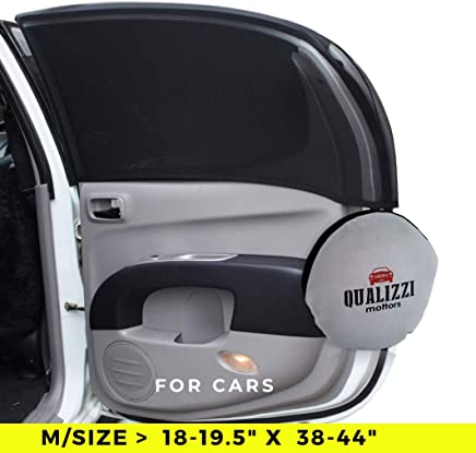 """M/Car Window Shade Protection for Baby. Backseat Sun Shades Cover Full Contoured Windows Up to 19.5"""" x 38-44"""", 2-Pack."""