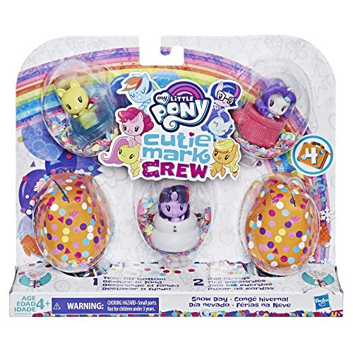 Hasbro My Little Pony - Personaggi Cutie Mark Crew Confetti Sorprese - Cofanetto di 5 Cutie Mark Crew Tema Grand Gala - 5 cm