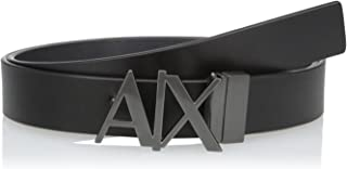 Armani Exchange Men's Leather Logo Hinge Belt