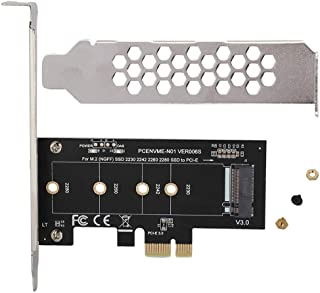 Zerone Extensor de Tarjeta de expansión PCI-E a M.2 Convertidor Adaptador de Tarjeta Vertical PCI-E para Disco Duro NVME M2 NGFF