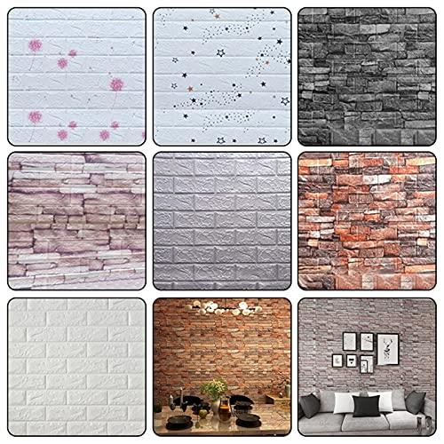 Paneles de pared de PVC 20 PCS Pegatinas de pared de ladrillo 3D Elf Papel tapiz de pared a prueba de agua televisor Fondo de papel tapiz decoracion ( Color : Red brick , Size : 38cm x 35cm x 20pcs )