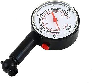 fengzong Auto Fahrzeug Motorrad Fahrrad Zifferblatt Reifen Manometer Meter Druck LKW Motorrad Fahrrad Reifen Messwerkzeug (Schwarz & Schwarz)
