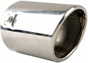 Exhaust tip - to Fit 1 1/2 to 2 3/4 Inch Exhaust Tail Pipe Diameter- Stainless Steel to give Chrome Effect - Car Muffler Tips