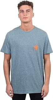 GioGoi Textured Yam T-Shirt Mens Blue Tee Shirt Top