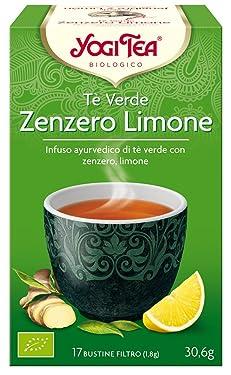 Yogi Tea Infusión de Hierbas Te Verde, Jengibre y Limón - 17 bolsitas