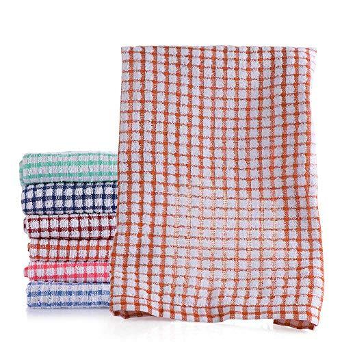 MXMA 42 x 62 cm absorbente paño de lavado suministros de cocina trapo toalla de algodón toalla de mano paños de limpieza paños de cocina (naranja)