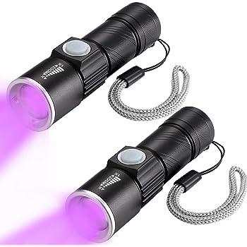 9-LED UV Torch Flashlight Ultra Violet Blacklight UV395NM Lights Purple Z8T3