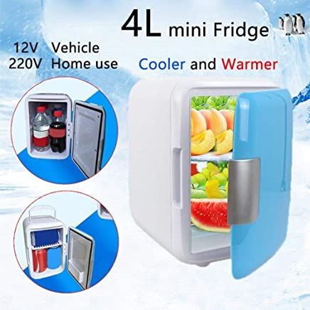 Blue Camping,RVs 6 Can Small Refrigerator 12V Portable