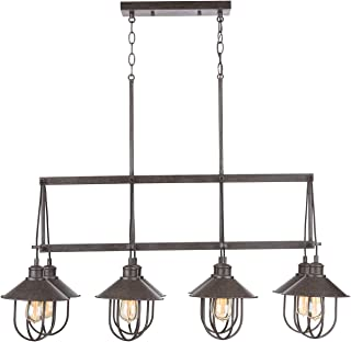 Capital Lighting Fixtures 830881MI Pawley 8 Light 40 inch Mineral Brown Island Ceiling Light