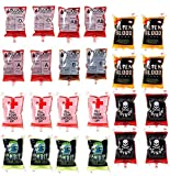Blood Bags Drink Container 24 Pcs Drink Cups Bags Vampire Zombie Party Favors...