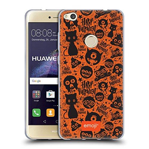 Head Case Designs Oficial Emoji Gato Negro Patrones de Halloween Carcasa de Gel de Silicona Compatible con Huawei P8 Lite (2017)