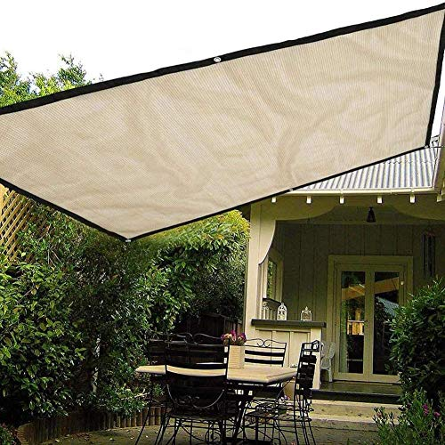 DXQDXQ Outdoor Sun Shade Sail Rectangle Size Optional Outdoor Garden Patio Yard Lawn Sunscreen Awning Canopy UV Block Waterproof Breathable Sun Sail Pergola Decking, Beige Anti-UV (Size : 2×1.8m)