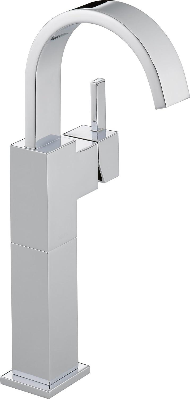 Delta Faucet Vero Vessel Sink Faucet, Single Hole Bathroom Faucet, Single  Handle Bathroom Faucet Chrome, Bathroom Sink Faucet, Chrome 20LF