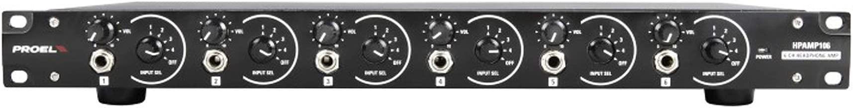 Proel hpamp1066canales Amplificador de auriculares