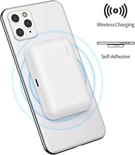 iWALK bateria Externa inalambrica,3000mAh Cargador inalambrico Universal Compatible con iPhone 11, XS, XR, X, 8,Plus, Samsung Galaxy S10, S10+, S9, S9+, S8, S8+, Note 9, Nexus, HTC y más, Blanco