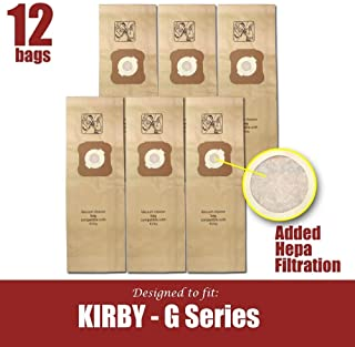 Filter-Cell Vacuum Bags for Kirby Generation G3, G4, G5, G6, Ultimate G, Sentria (12)