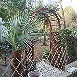 WYCD Arco para Enredaderas, Madera Maciza Marrón Arco de Jardín, Arco de Flores, para Plantas trepadoras, 210x120x60 cm