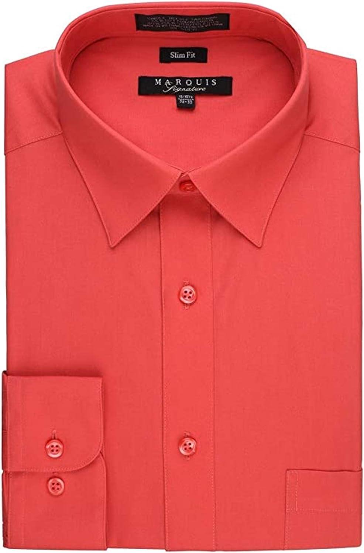 Marquis Men's Long Sleeve Slim Fit Dress Shirt