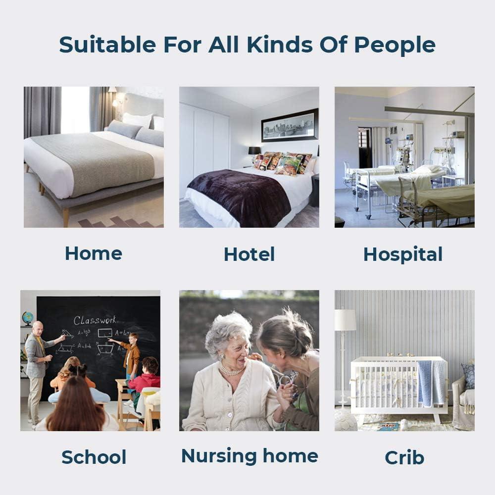 Essentials Lot de 2 Prot/ège Oreillers Imperm/éable Doux Confortable Hypoallerg/énique Zip de Fermeture Respirant et Lavable Blanc UMI 40x70cm