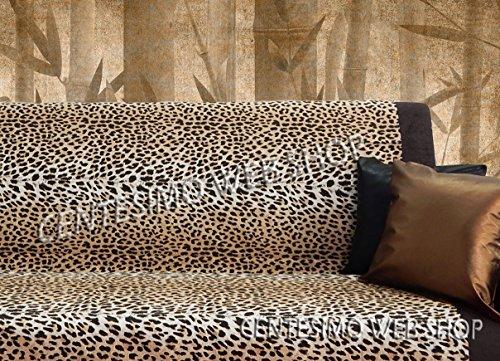 Centesimo Web Shop Telo ARREDO COPRITUTTO 2 Misure Prodotto in Italia Gran Foulard Multiuso Tuttofare COPRIDIVANO COPRIPOLTRONA - MACULATO Leopardato - 160x290 cm Beige