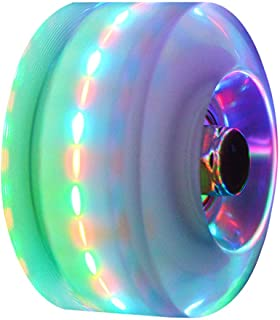 Roller Skate Wheels Luminous Light up Wheels with Bearings Outdoor Roller Skate Wheels 4pcs 32mm x 58mm Suitable for Double Row Skating and Skateboard