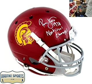 Ronnie Lott Autographed/Signed USC Trojans Schutt Full Size NCAA Helmet With 1978 National Champs! Inscription