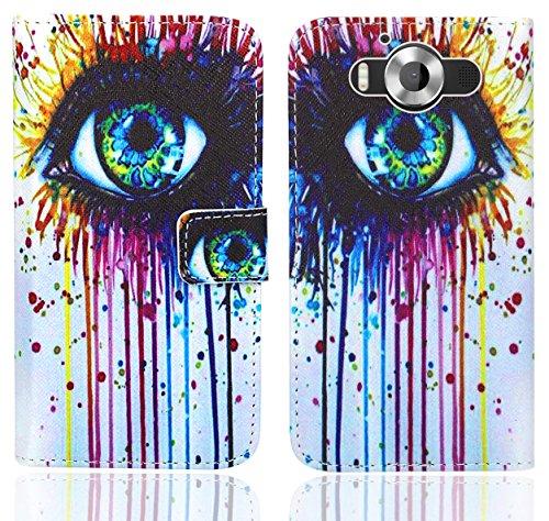 FoneExpert® Microsoft Lumia 950 Handy Tasche, Wallet Hülle Flip Cover Hüllen Etui Ledertasche Lederhülle Premium Schutzhülle für Microsoft Lumia 950 (Pattern 10)