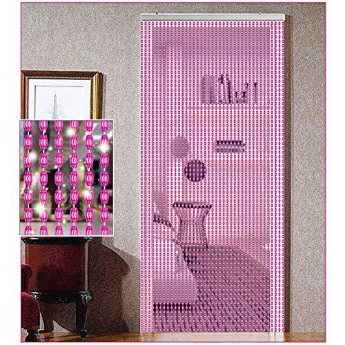 ZXL Perlen Vorhänge für Tür Dekor Raumteiler Hängen Saiten Wohnzimmer Schlafzimmer Schranktür Wand Panel (Farbe: B, größe: 67 stränge-80x200 cm)