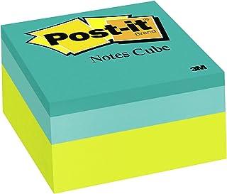 Post-it Notes Cube, notas adesivas favoritas número 1 dos EUA, 7,6 x 7,6 cm, onda verde, 400 folhas/cubo (2054-PP)