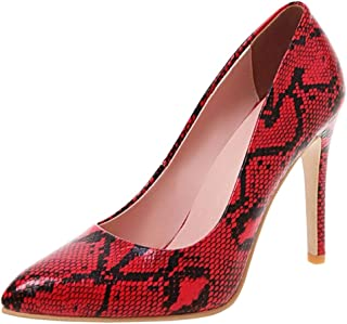 Slenderer Women Fashion Pumps Stiletto Heels Animal Print