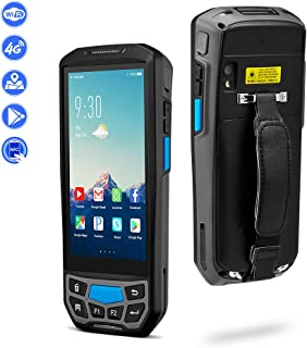MUNBYN 3G 4G Rugged Handheld Android Scanner with 2D Honeywell Barcode Scanner for 1D 2D PDF417 and NFC Reader 13.56MHz, Touch Screen Industrial Mobile Device for Shipping, Delivery, WMS
