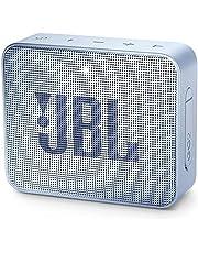 JBL GO 2 Bluetooth-luidspreker, draagbaar, waterdicht, IPX7, met microfoon, tot 5 uur looptijd, lichtblauw
