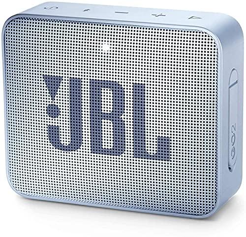 JBL GO 2 Altavoz Bluetooth portátil, Impermeable IPX7, con micrófono, hasta 5 Horas de autonomía, Azul Claro