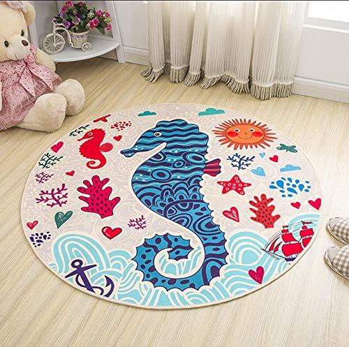 Carpet - 60cm Cartoon Round Carpet Baby Crawling mat Children's Bedroom Carpet eco-Friendly Rug Computer Chair mat - by LHOUSSAINE - 1 PCs