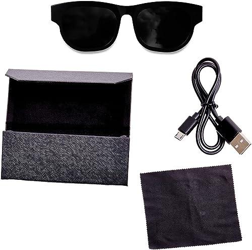 high quality Sound Glasses, Bluetooth Sunglasses with Smart Audio Frames, Polarized Sunglass Lenses, Angular new arrival wholesale – Black sale