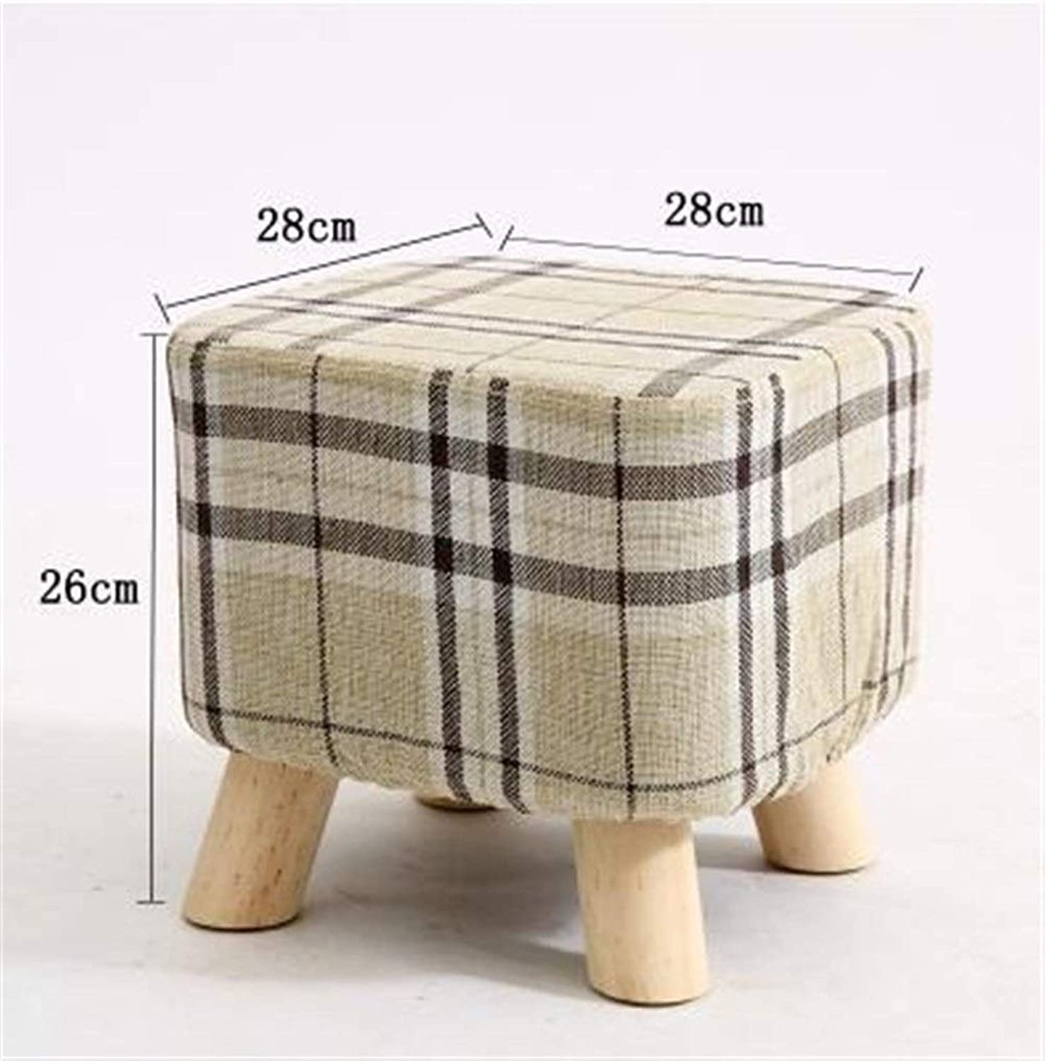 YJLGRYF Chair Upholstered Footstool Round Square Fabric Pouffe Stool 4 colors(4 Legs) (color   B2)
