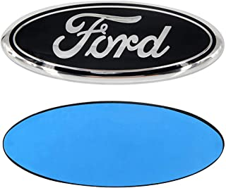 "7/"" Black Chrome FOR F150 F350 Escape Tailgate Emblem Oval Decal Badge Nameplate"