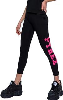 Pyrex Leggings Donna stampa logo lato 42239