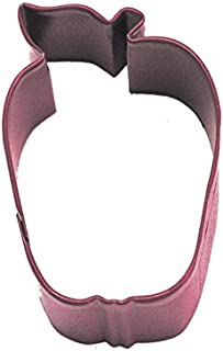 Cybrtrayd R&M Apple Cookie Cutter with Brightly Colored Durable Baked-On Polyresin Finish, 2.5-Inch