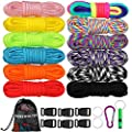 WEREWOLVES 12 Colors 550 Paracord Cord Multifunction Paracord Bracelets Making Kit, Paracord Combo Crafting Kits with Storage Bag and Accessories, Best Gift for Adult & Child (Colorful)