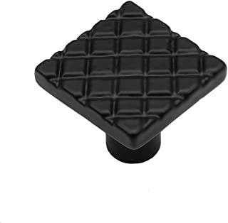 "Iron Valley - 1-1/4"" Waffle Cabinet Knob - Solid Cast Iron (Pack of 10)"