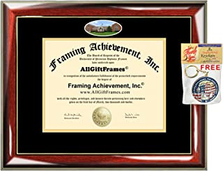 UMUC Diploma Frame University of Maryland University College Degree School Fisheye Picture Custom Frames Certificate Double Mat Framing Graduation Gift Campus Bachelor Master Doctorate PHD