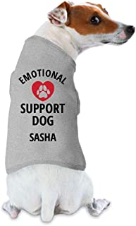 FUNNYSHIRTS.ORG Emotional Support Dog Sasha: Dog Tank Top