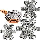 XUTONG Protectores de cacerola antiarañazos, 12 piezas, almohadillas de fieltro acolchadas para separar y proteger las superficies de tus utensilios de cocina para evitar arañazos.